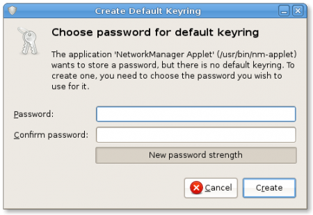 Create Default Keyring